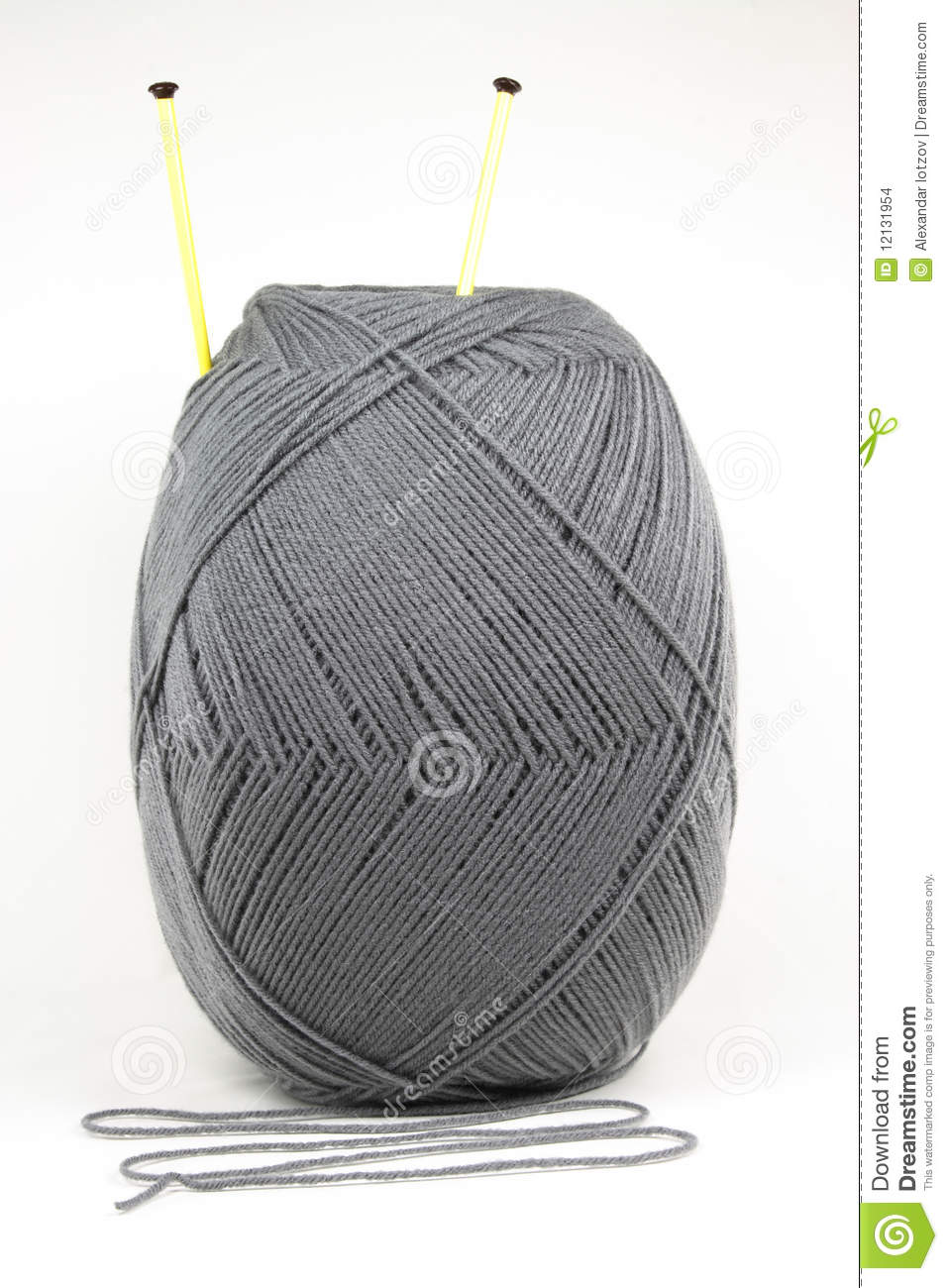 Knitting Patterns Wool And Needles : Wool And Knitting Needles. Stock Images - Image: 12131954