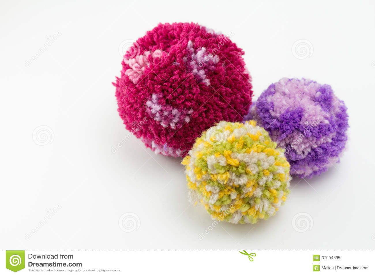 wool pom poms royalty free stock photo image 37004895. Black Bedroom Furniture Sets. Home Design Ideas