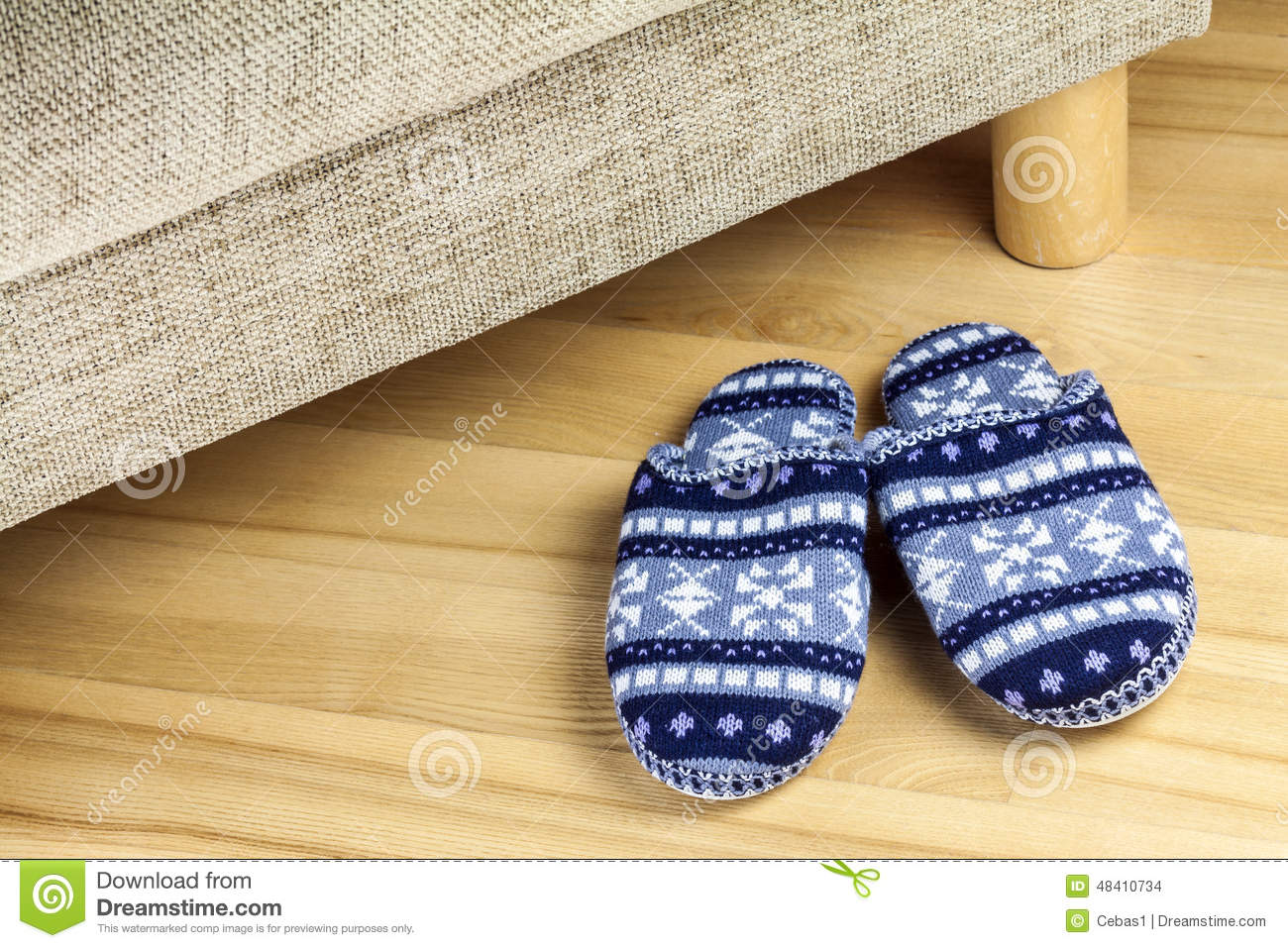 Download Wool slippers stock photo. Image of clothing, soft, personal - 48410734