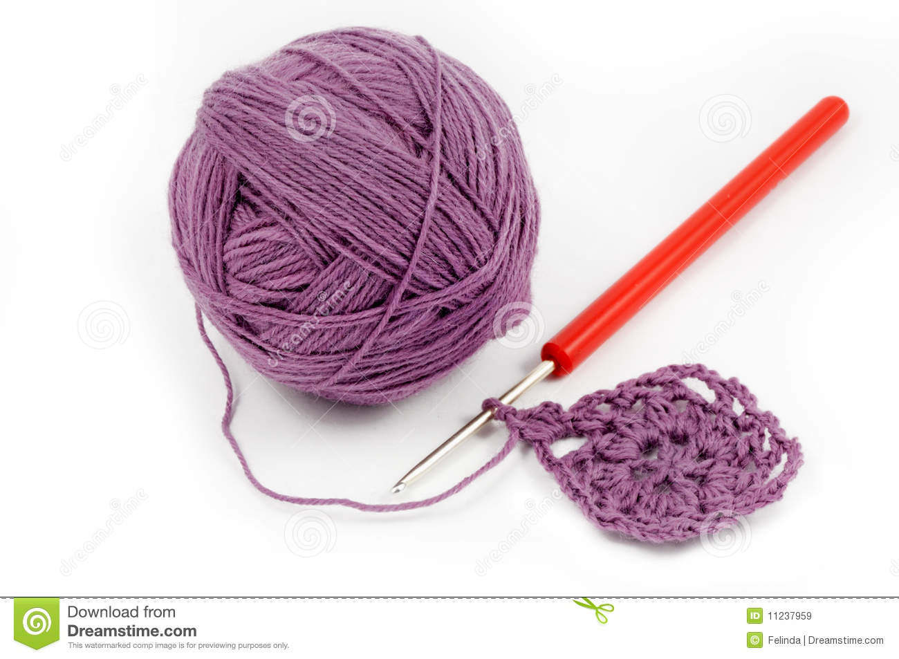 Wool Yarn With Crochet Work Royalty Free Stock Images - Image ...