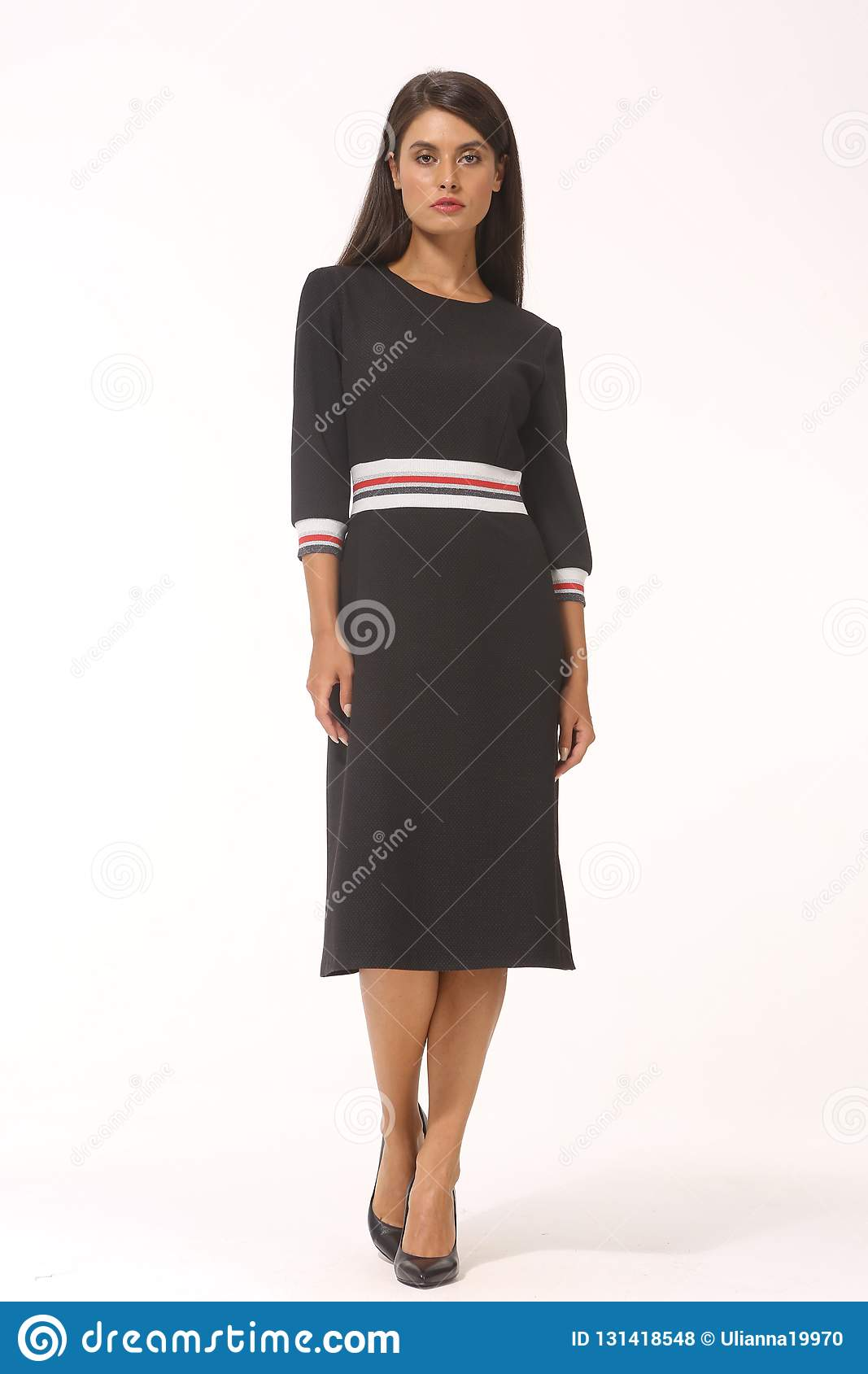 5637ec1f874 Woolen checked official dress for office fragment on model close up photo  isolated on white
