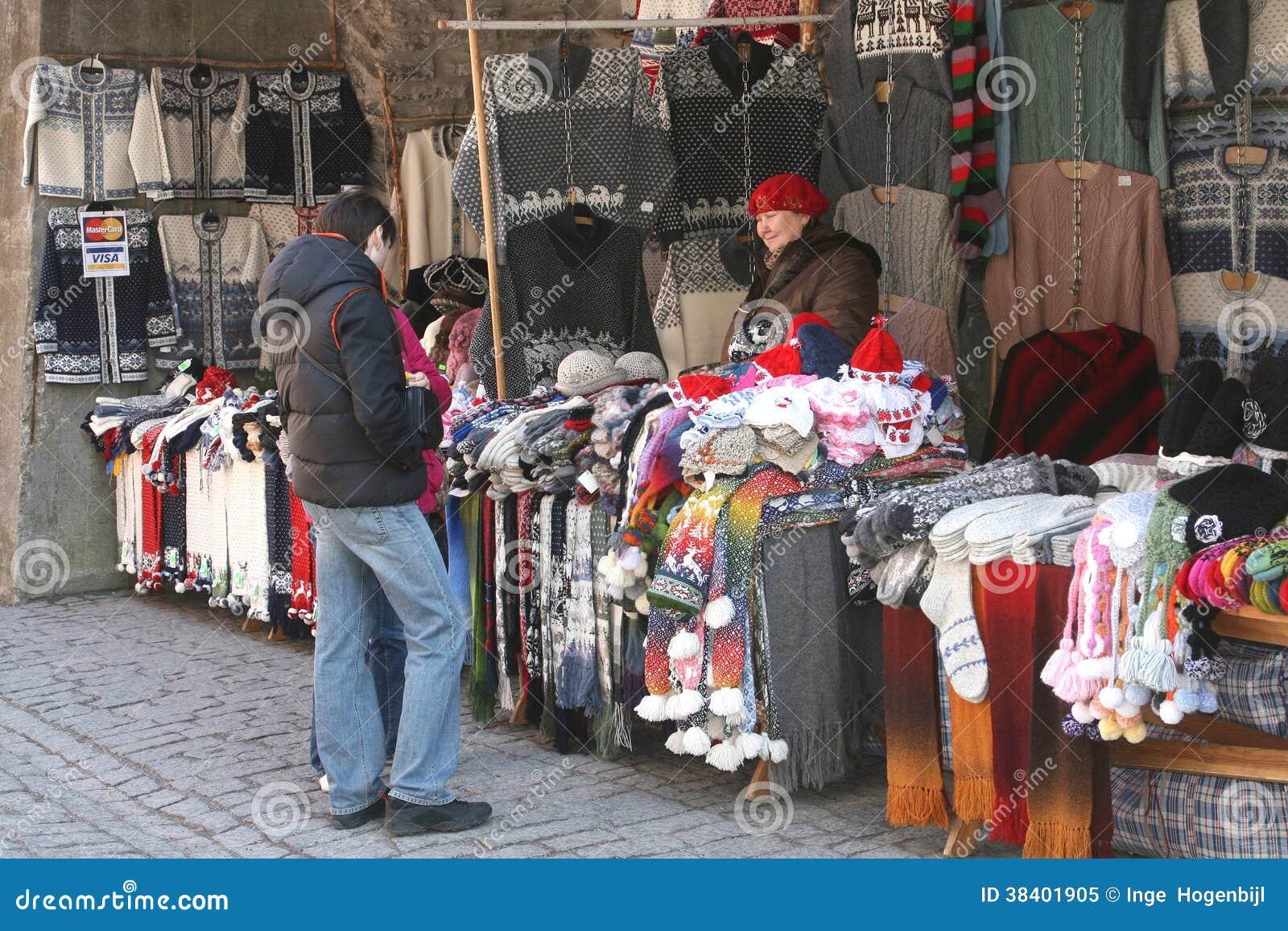 Woolen trykotowy odziewa, Tallinn, Estonia (Unesco)