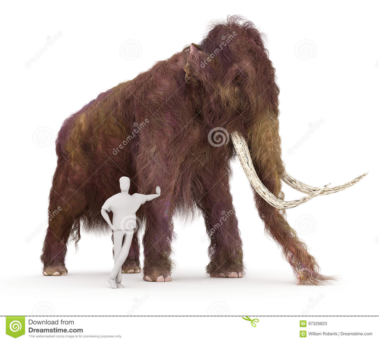 Woolly Mammoth And Human Size - 157.0KB