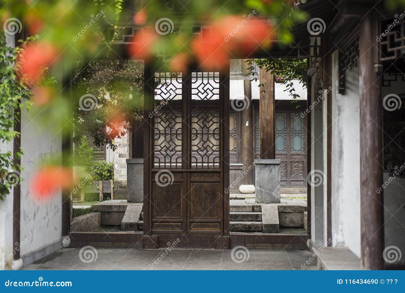 Woonhuizen, oude plattelandshuisjes en stegen in de oude stad van Nanjing, Nanjing