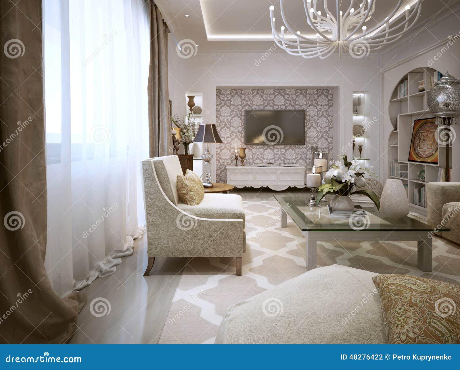 Woonkamer arabische stijl stock illustratie afbeelding 48276422 - Woonkamer deco ...