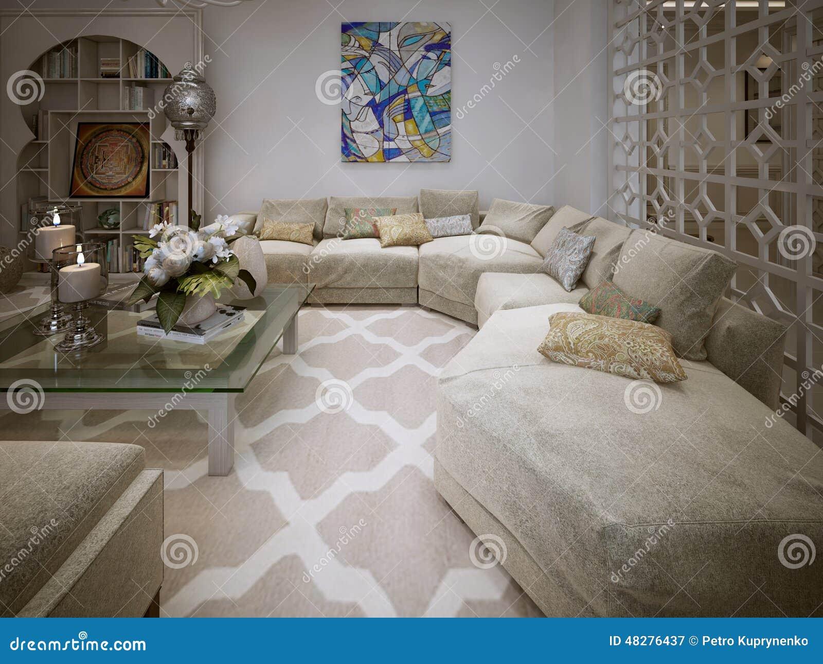 Arabische Inrichting Slaapkamer : Woonkamer arabische stijl stock illustratie illustratie bestaande