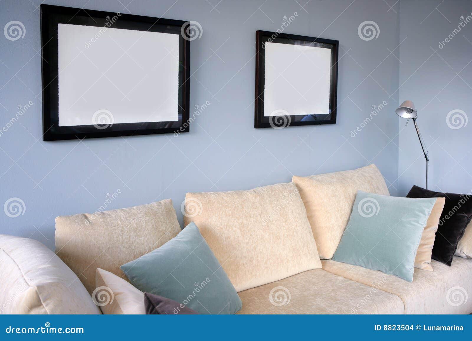 Muur ontwerp woonkamer blauwe bank ~ anortiz.com for .