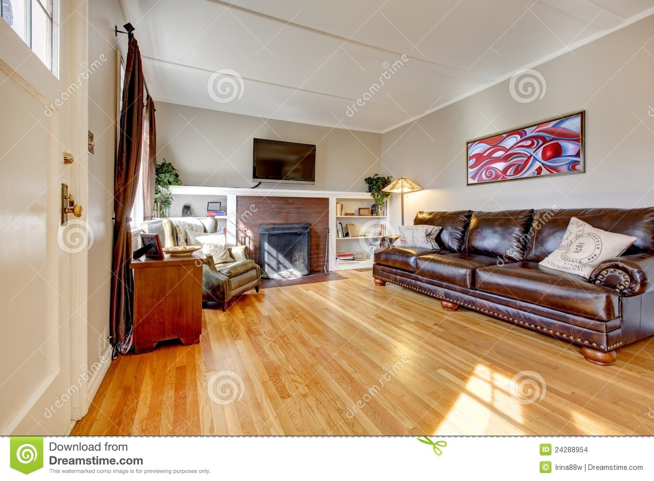 Woonkamer Ideeen Open Haard : Sectional Living Room with Fireplace and ...