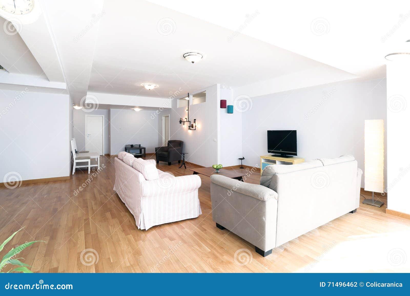 woonkamer met nieuw meubilair stock foto afbeelding