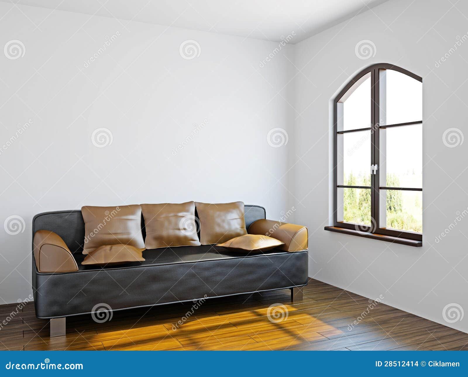 Woonkamer met zwarte bank stock afbeeldingen   afbeelding: 28512414