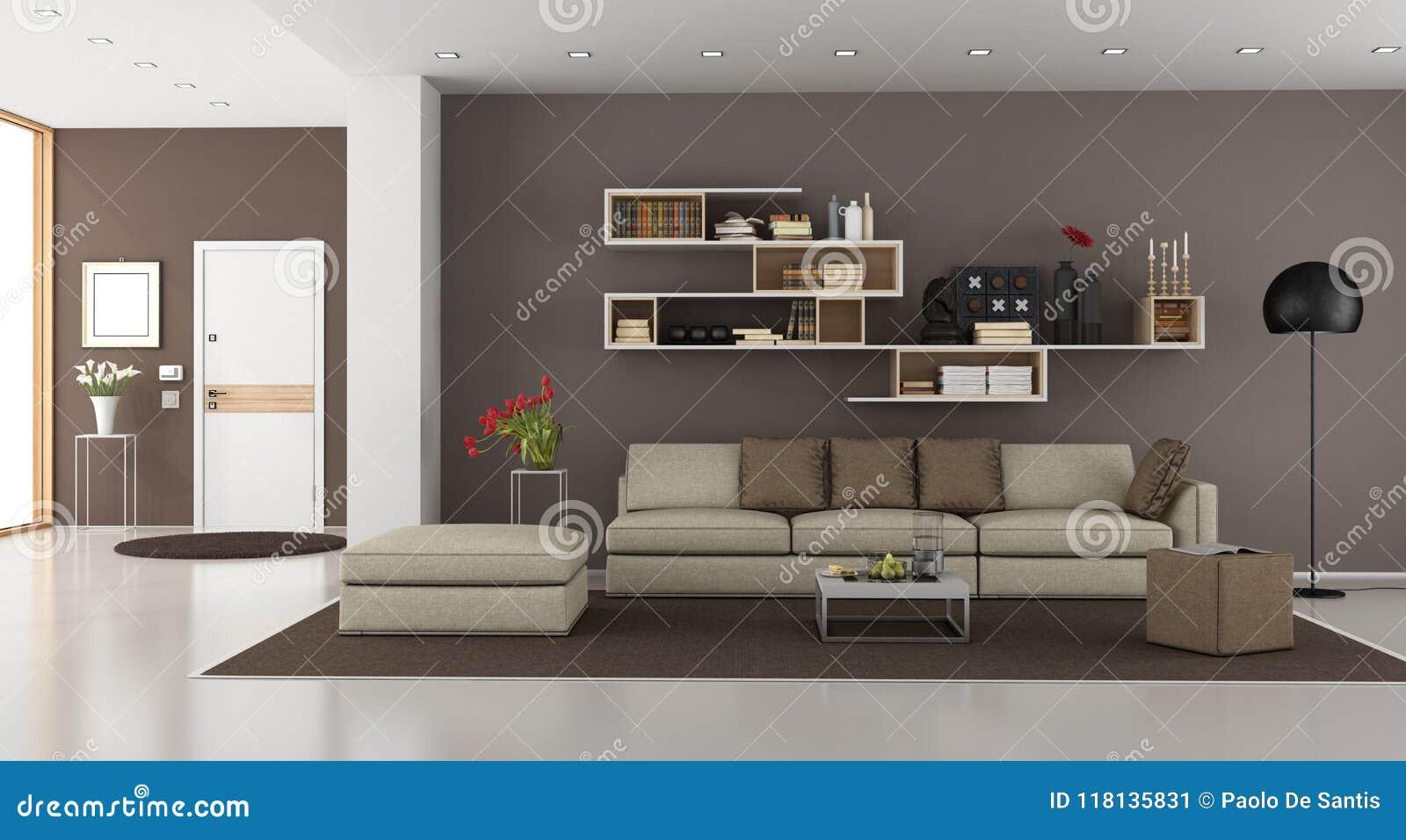 Woonkamer Lampen Modern : Woonkamer van een modern huis stock illustratie illustratie