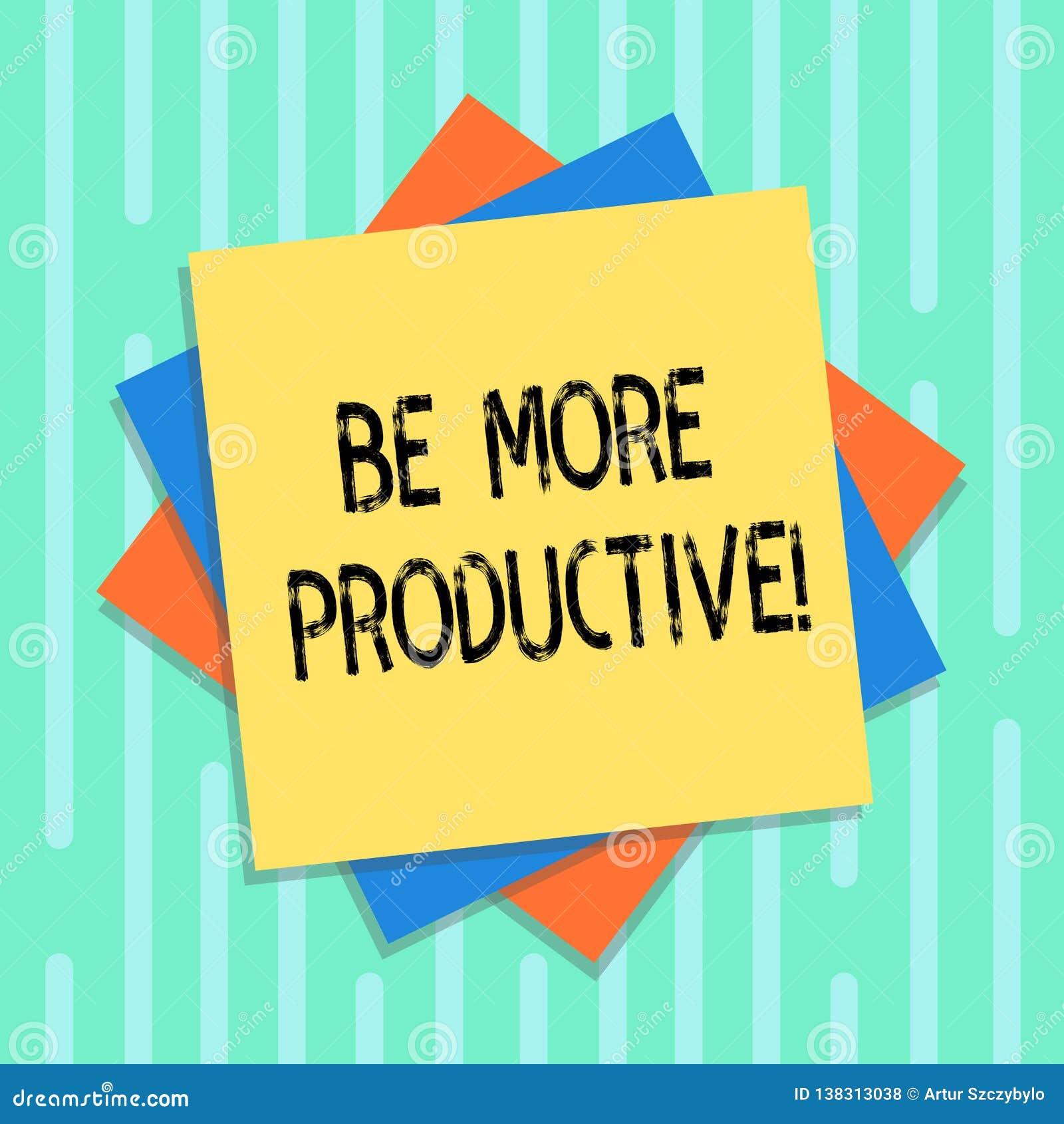 Word écrivant le texte soit plus productif Concept d affaires pour le produit un grand nombre de cultures de marchandises ou d au