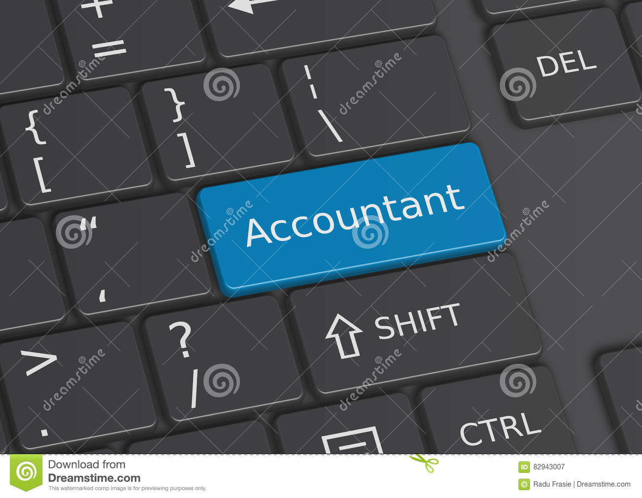 The Word Accountant Written On The Keyboard Stock Illustration ...