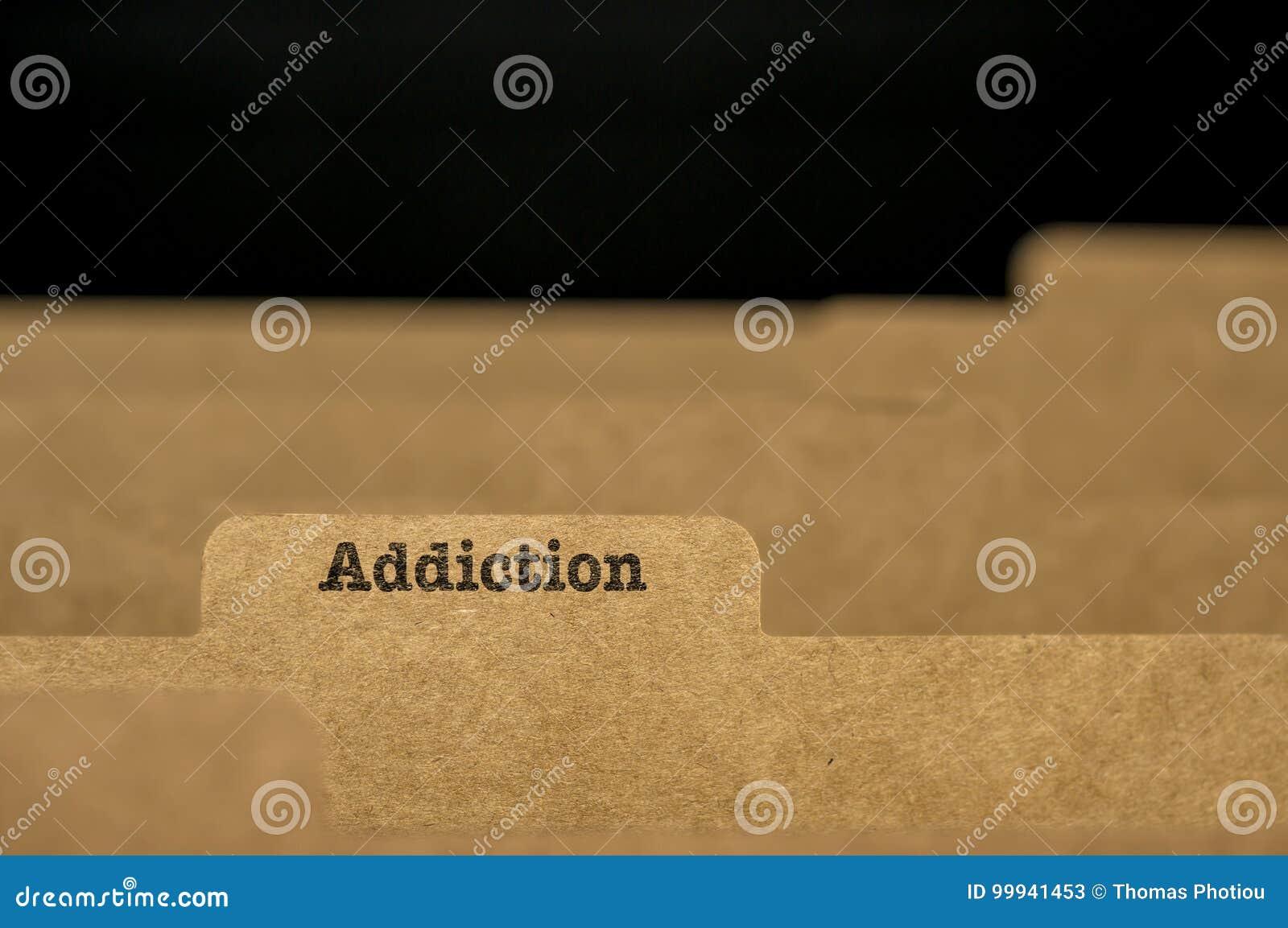 Word addiction on index card