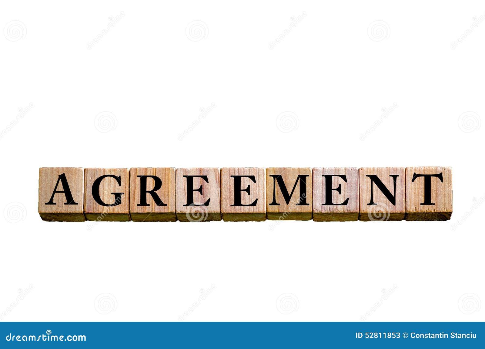 Word agreement isolated on white background stock image image of word agreement isolated on white background platinumwayz
