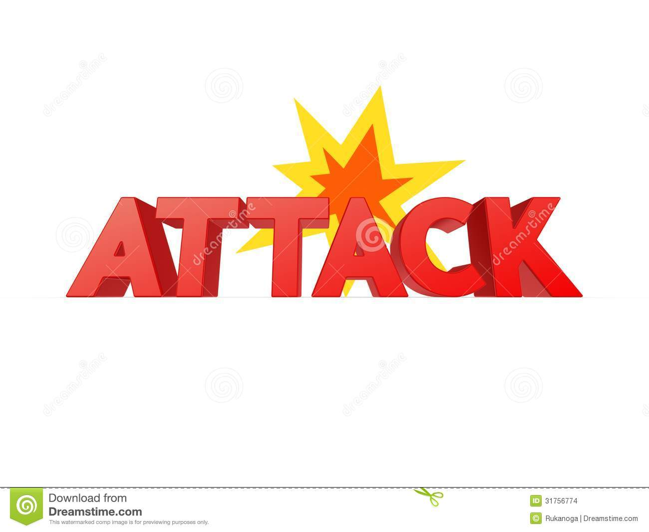 Word ATTACK. Stock Images - Image: 31756774