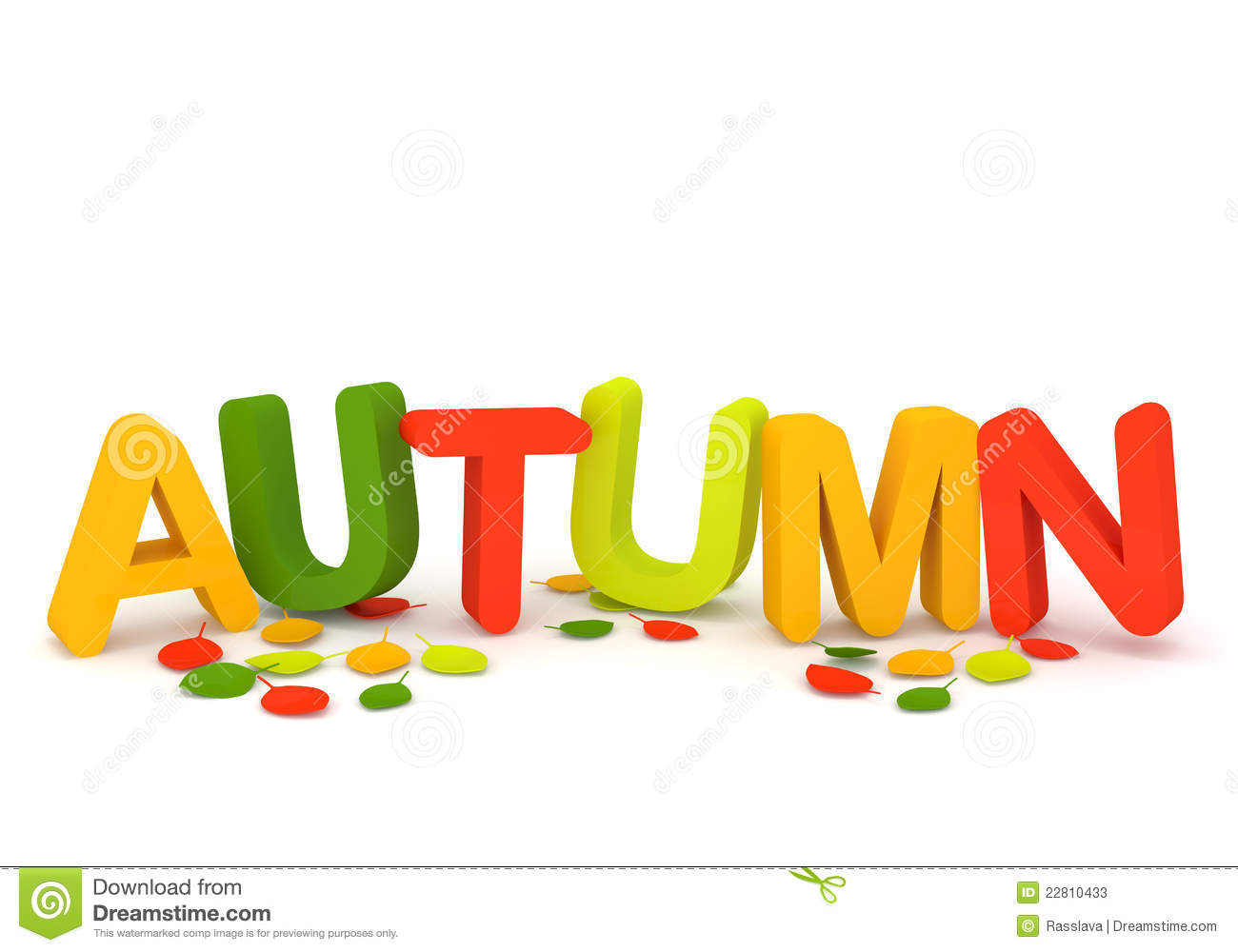Word Autumn With Colorful Letters And Leaves Stock Photos ...