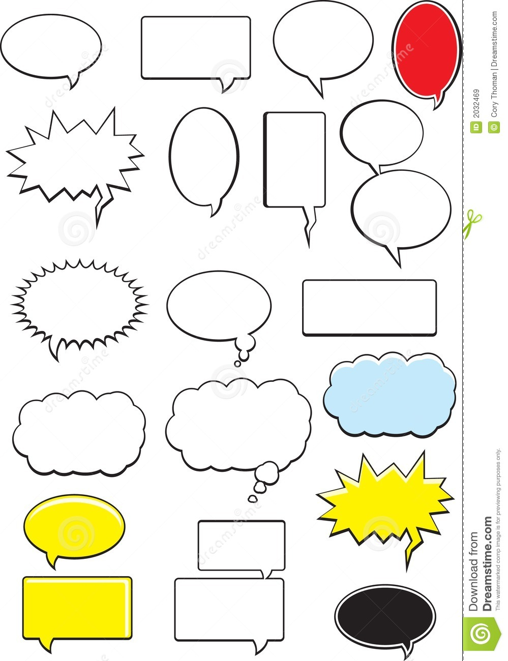 Word Bubbles Royalty Free Stock Images Image 2032469
