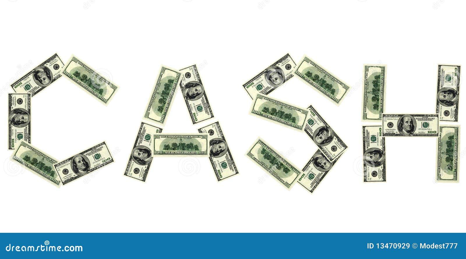 word of cash from dollar stock illustration illustration of