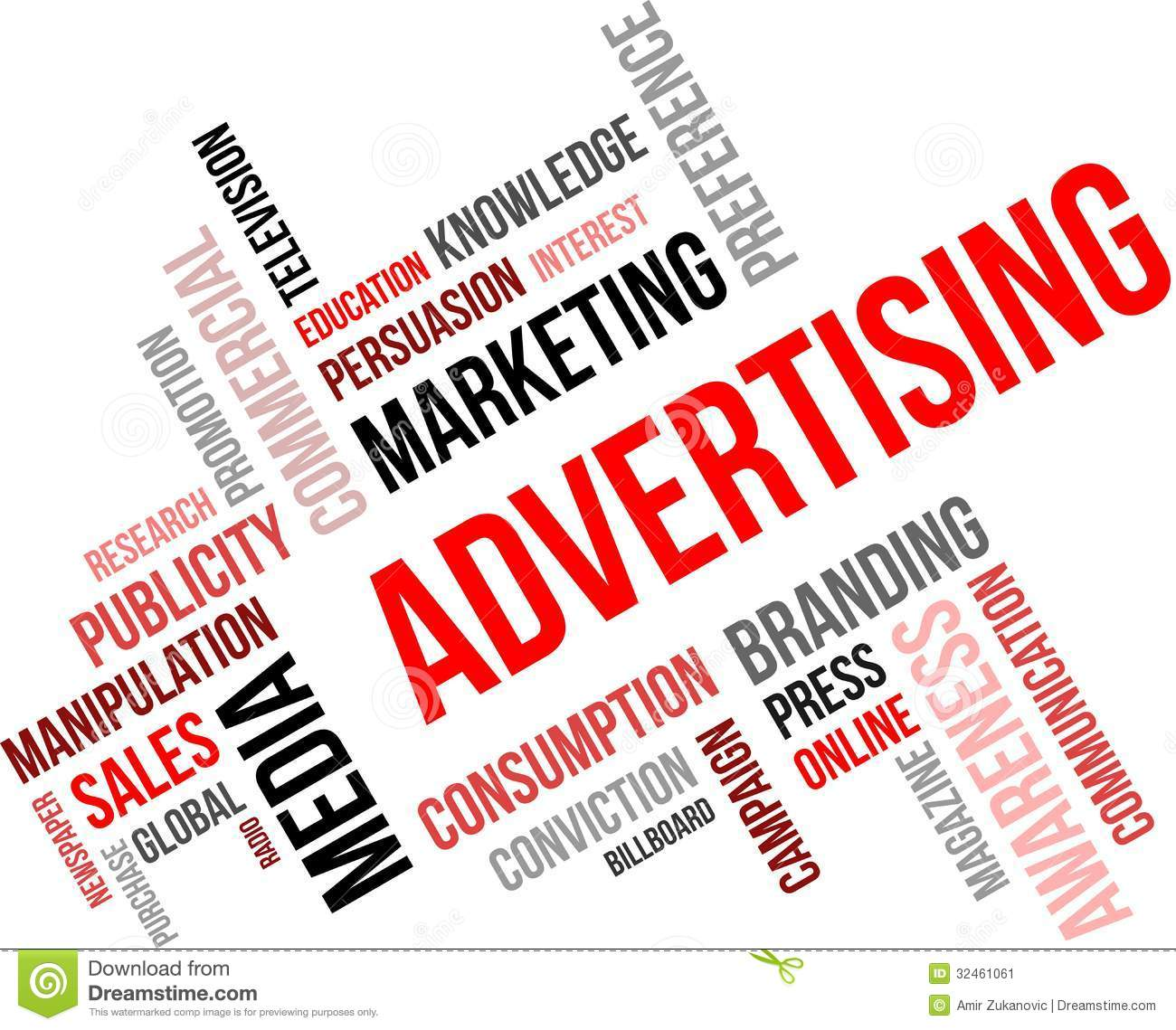 word cloud advertising stock image image 32461061 word cloud advertising