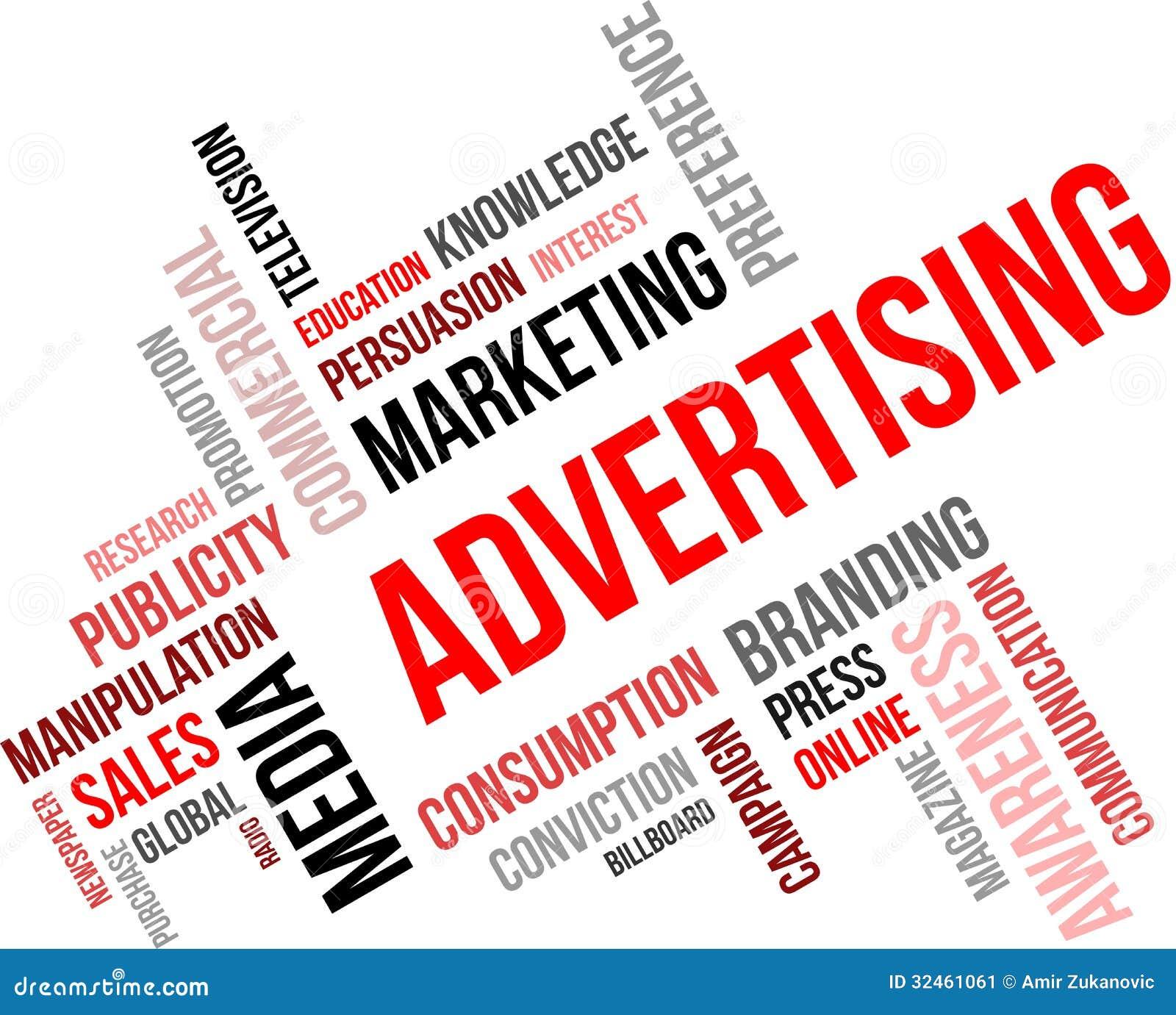 word cloud advertising stock image image  word cloud advertising