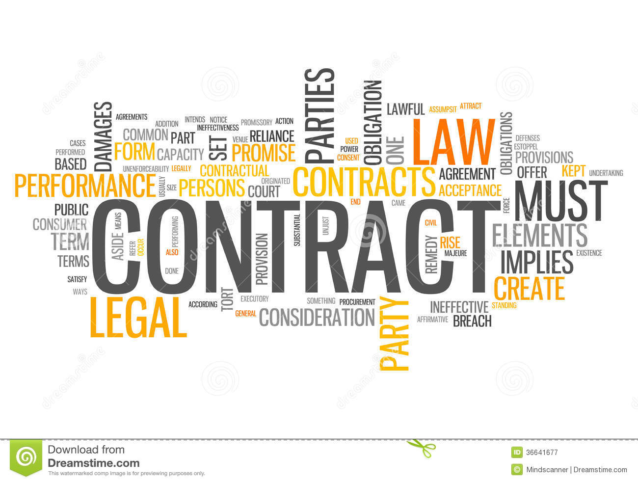 Word Cloud Contract  Contract Word