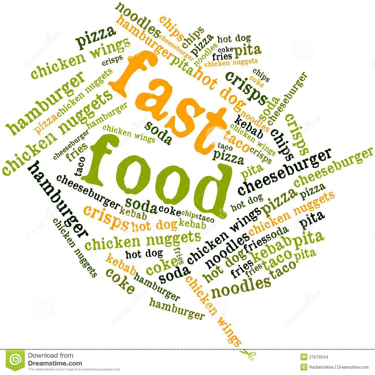 word cloud for fast food stock images image 27079244