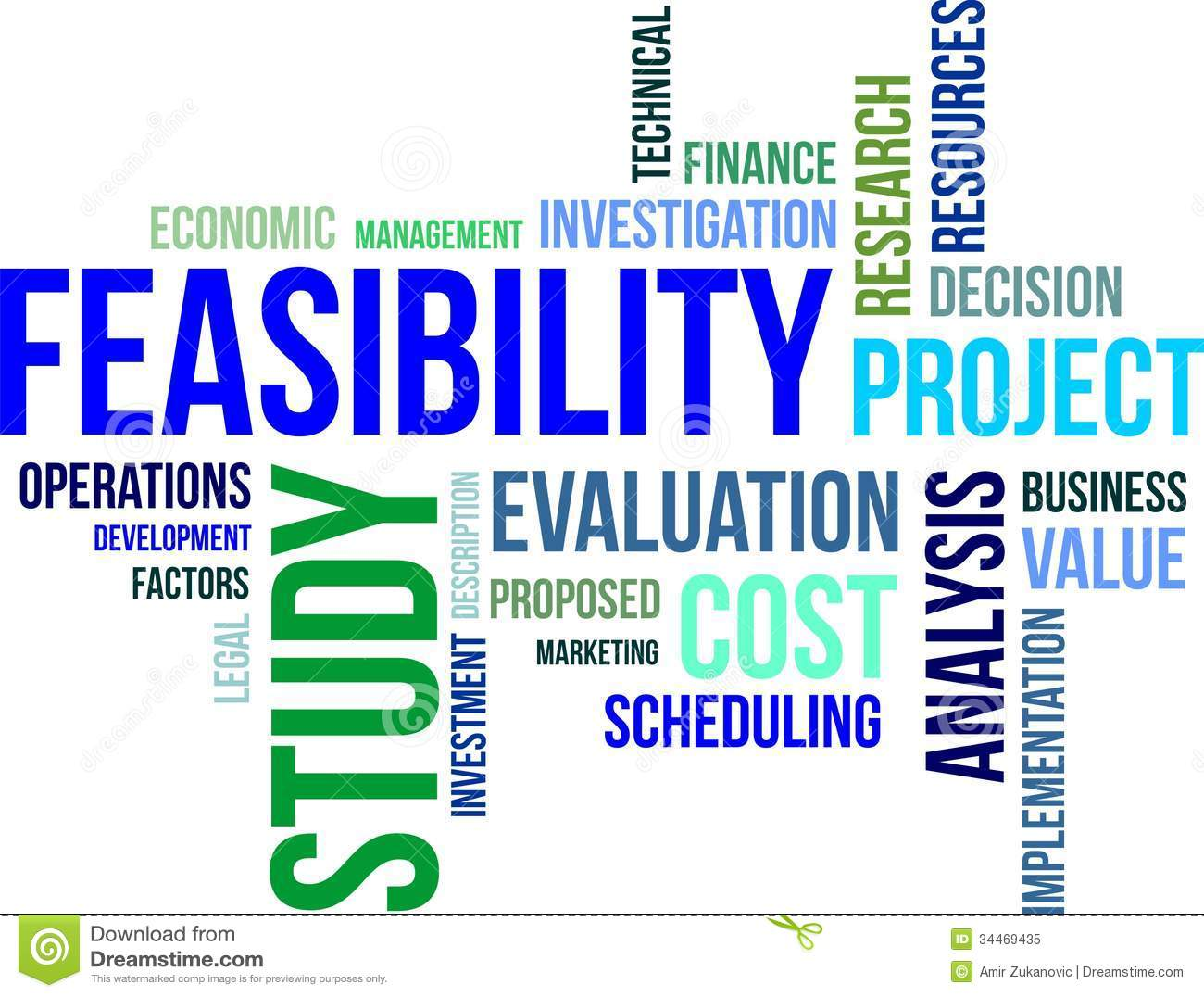 management feasibility Simply put, a feasibility study in project management is used to find out if a project is feasible prior to investing real resources and dollars often, project managers are hired to complete studies for clients to determine if a proposed venture will be profitable as well as what risks it will encounter.