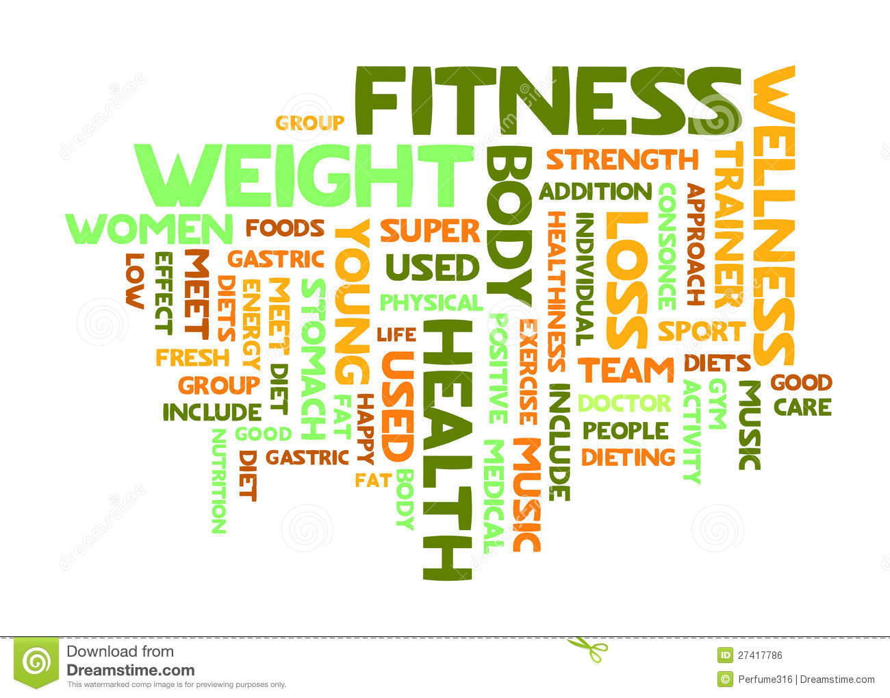 word cloud of fitness royalty free stock image   image