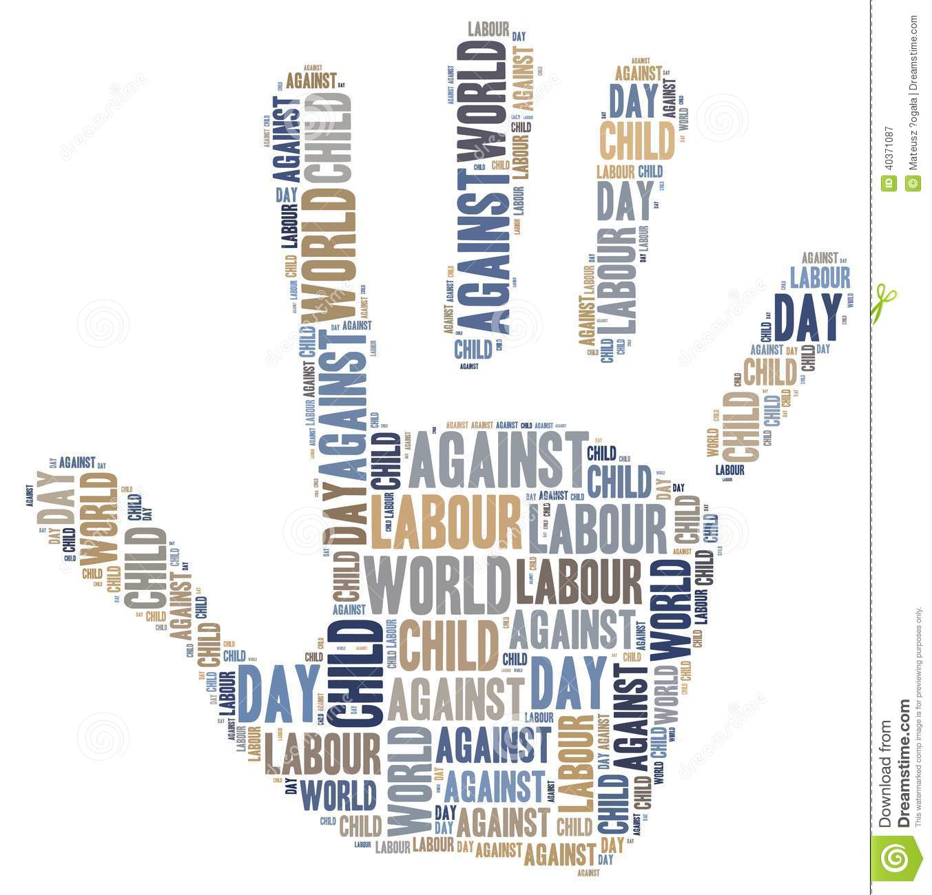 word cloud related to world day against child labour stock Abuse Icon Physical Abuse