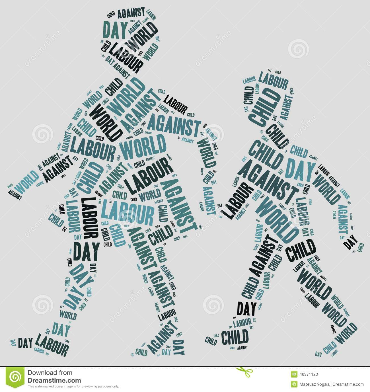 letter against child labour word cloud related to world day against child labour stock 19626 | word cloud related to world day against child labour tag 40371123