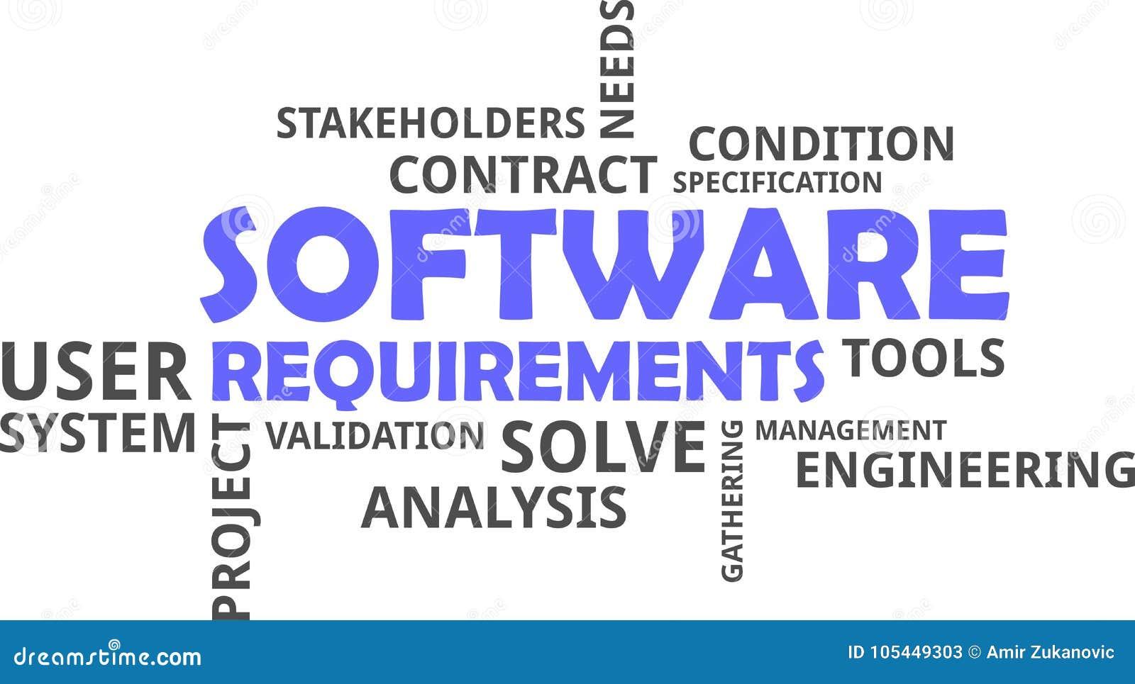 Word Cloud Software Requirements Stock Vector Illustration Of - Software requirements gathering tools