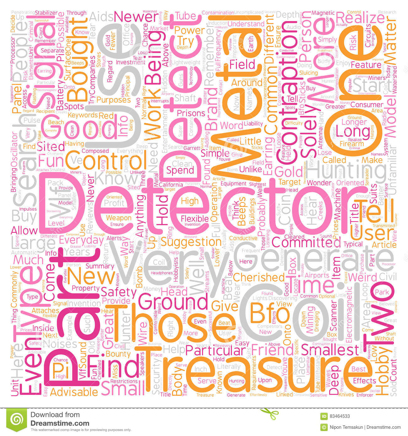 Word Cloud Text Background Concept Stock Illustration A Simple Bfo Metal Detector Parts Wordcloud