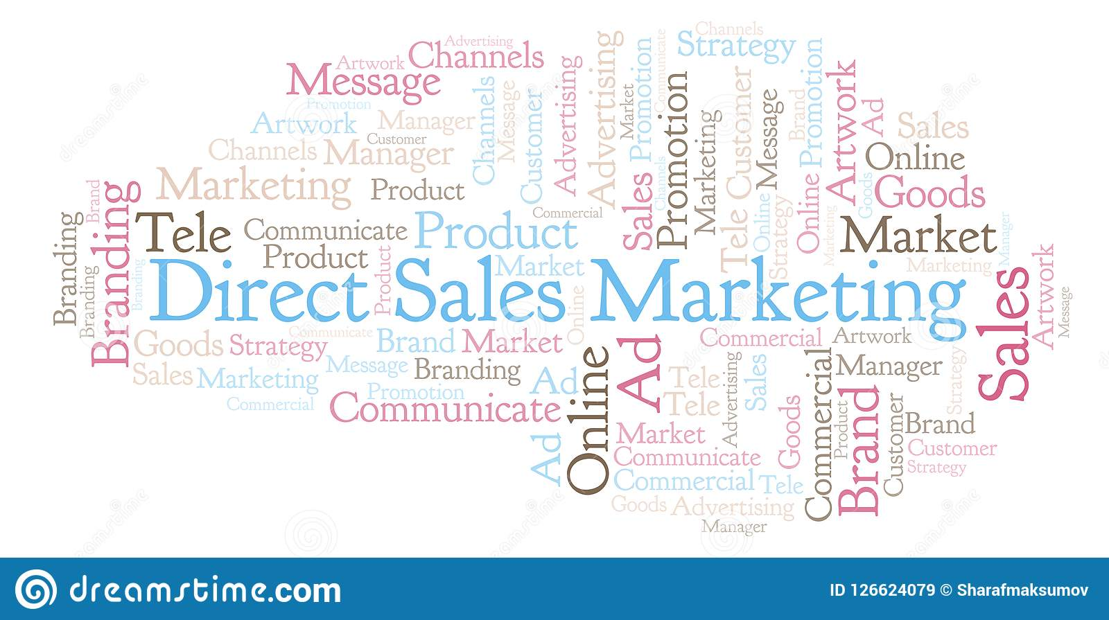 83a168c06b Word Cloud With Text Direct Sales Marketing. Stock Illustration ...