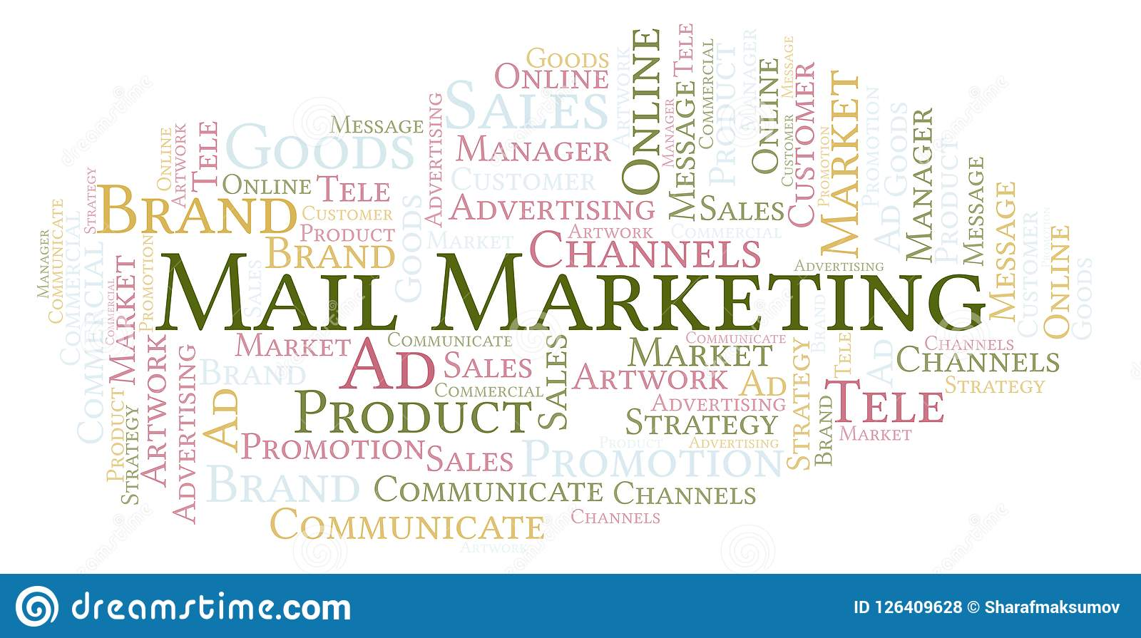 Word cloud with text Mail Marketing.