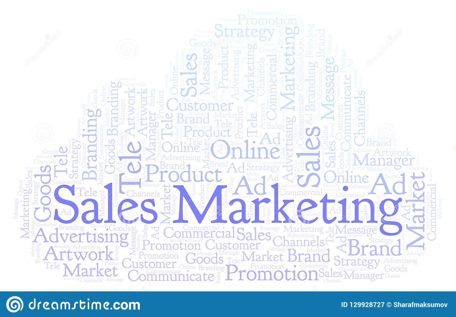 a6bc56ee85 Word Cloud With Text Sales Marketing. Stock Illustration ...
