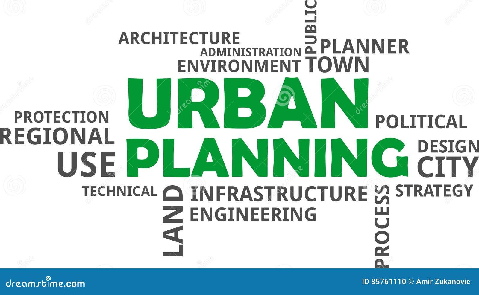 Word Cloud - Urban Planning Stock Vector - Illustration of