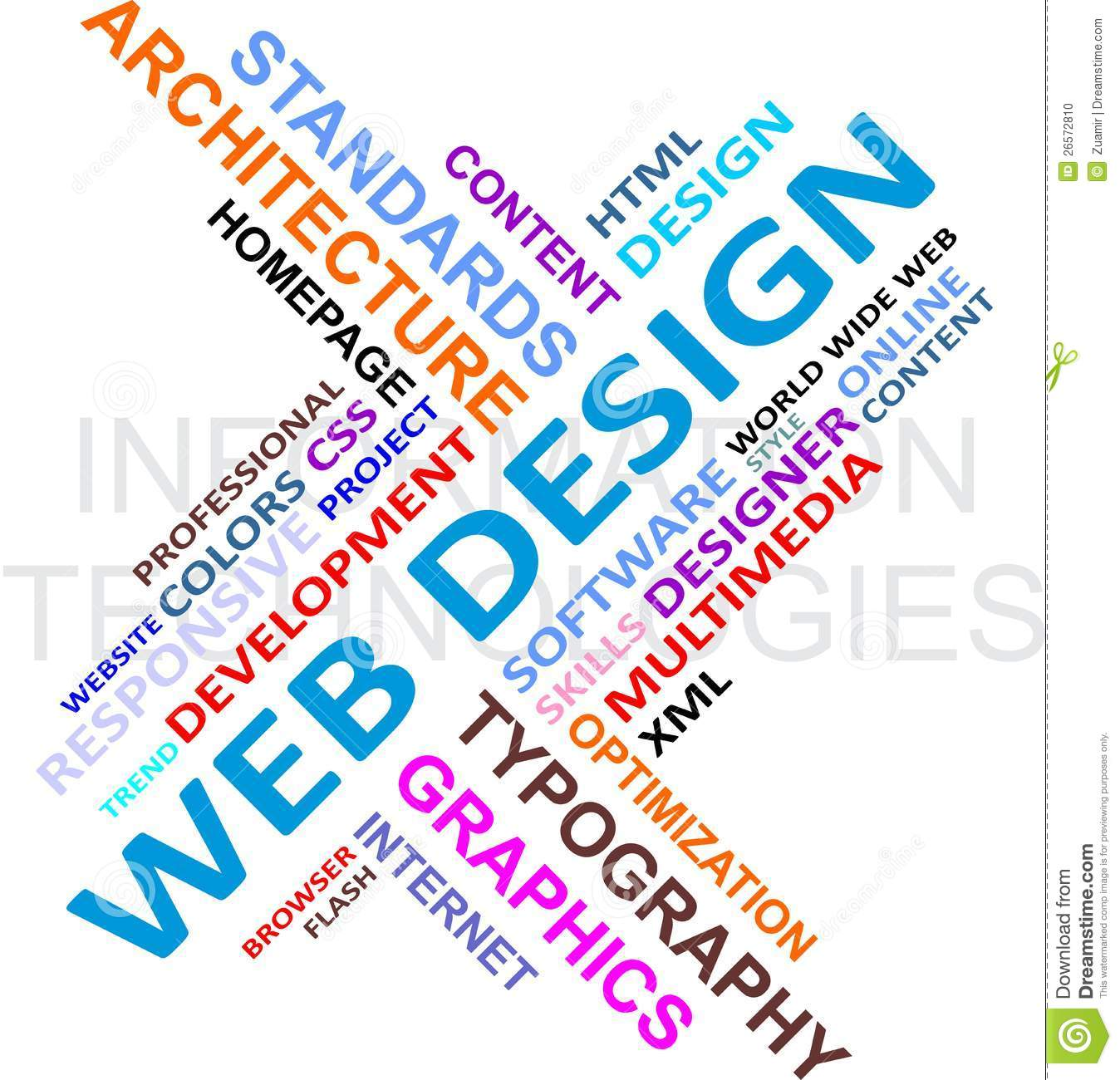 Word cloud web design stock vector image of typography 26572810 for Microsoft word graphic design