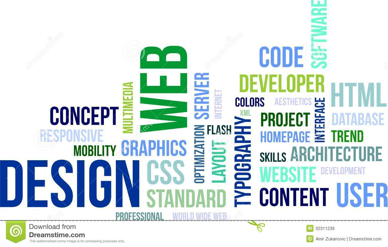 Word Cloud Web Design Royalty Free Stock Images Image