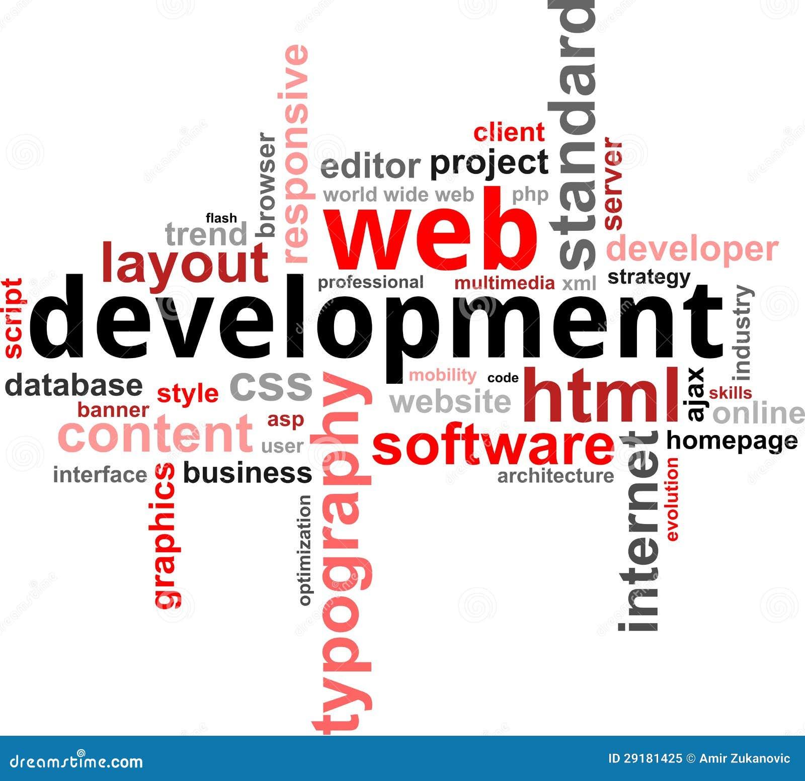 Word clouod - Webontwikkeling