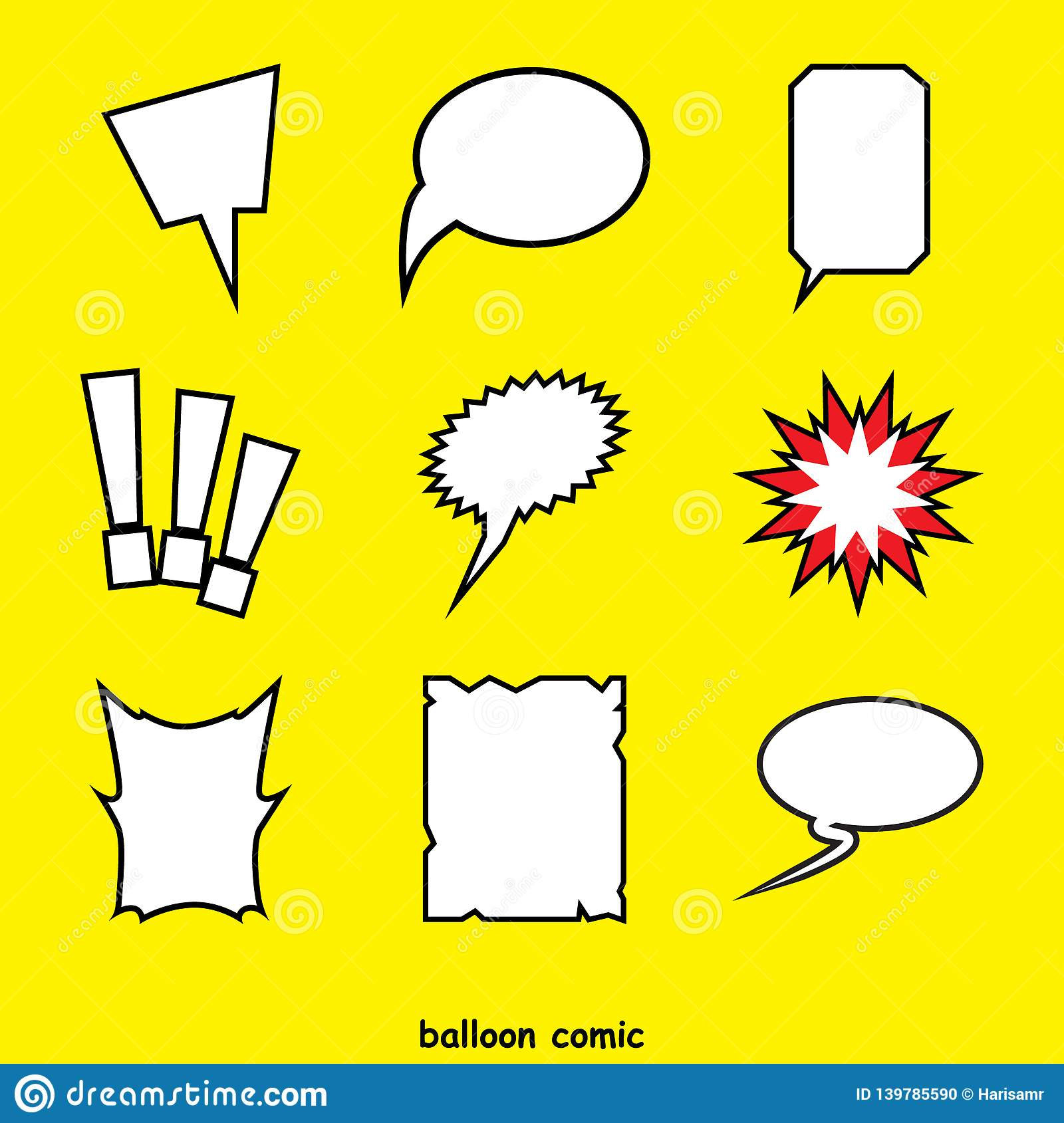 Word comic balloon vector. elements of verbal or textual communication