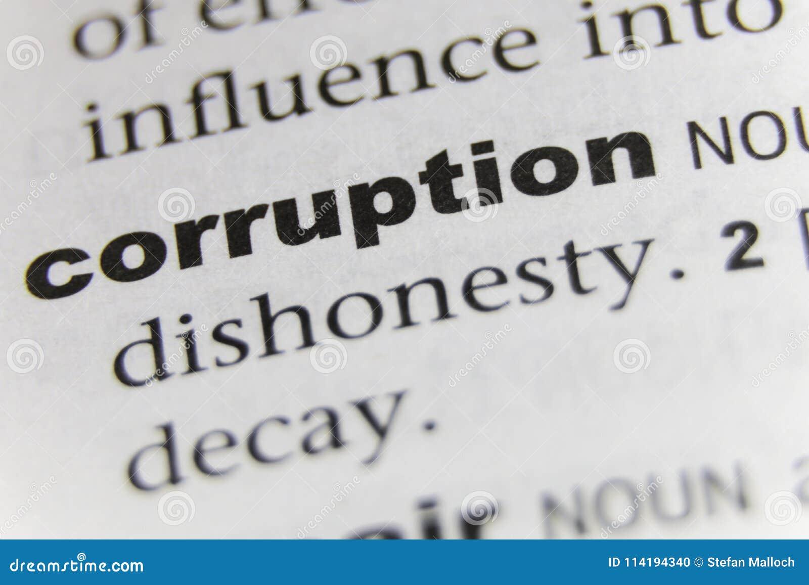 Word Corruptie Dichte Omhooggaand