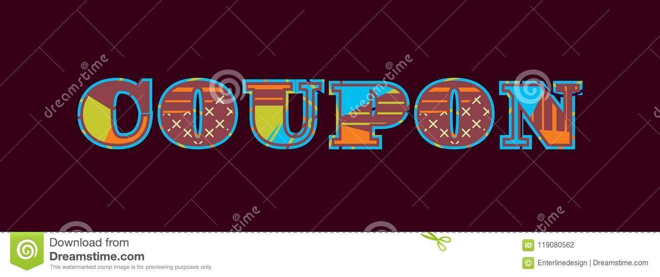 Coupon Concept Word Art Illustration Stock Vector Illustration Of
