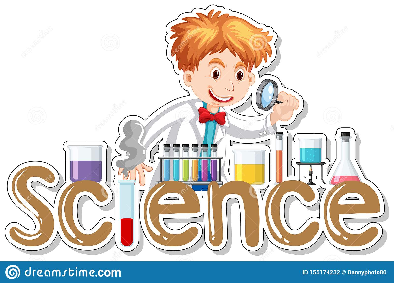 Word Design For Science With Cientist Working In Lab Stock ...