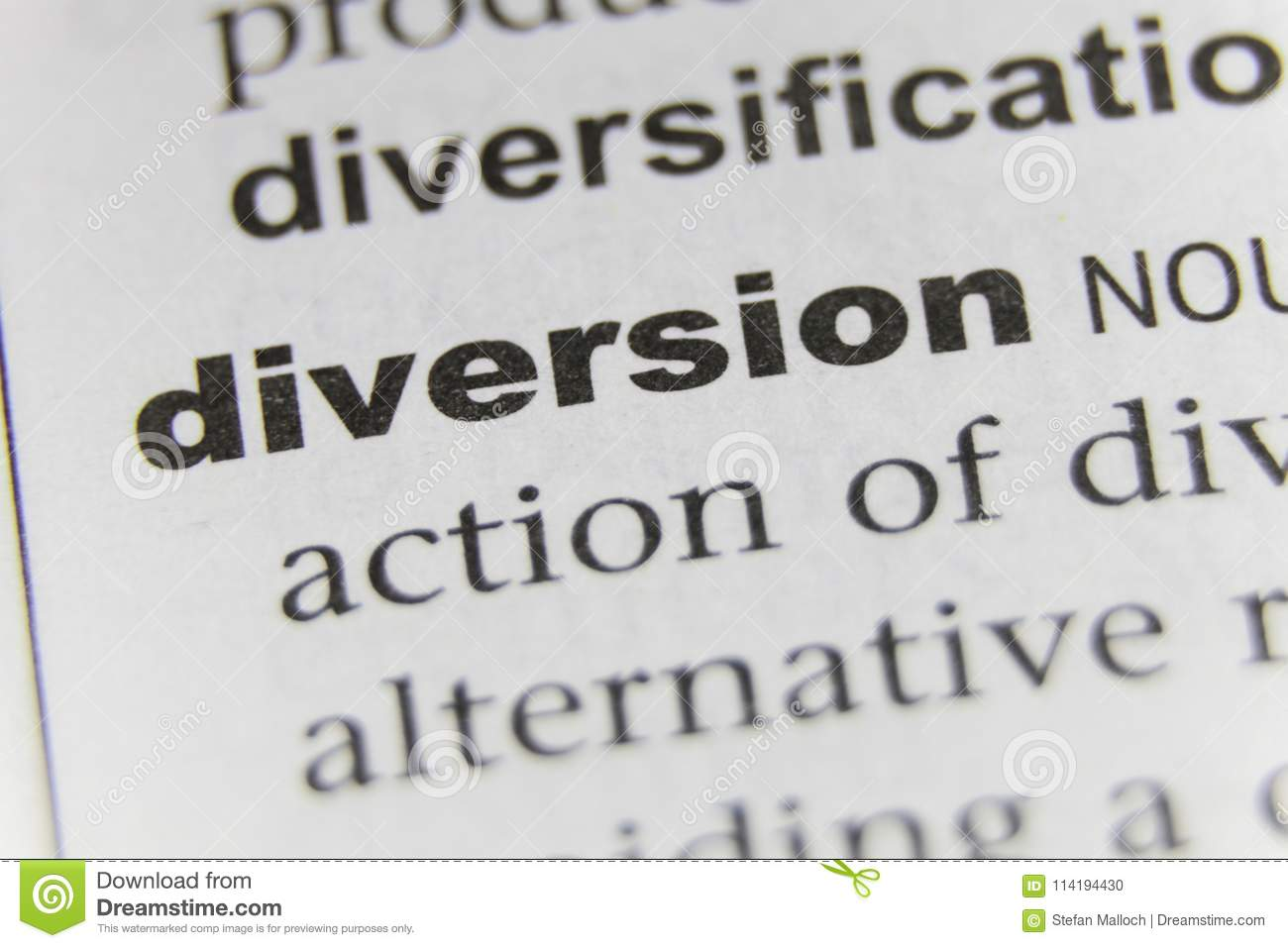 The Word Diversion Close Up