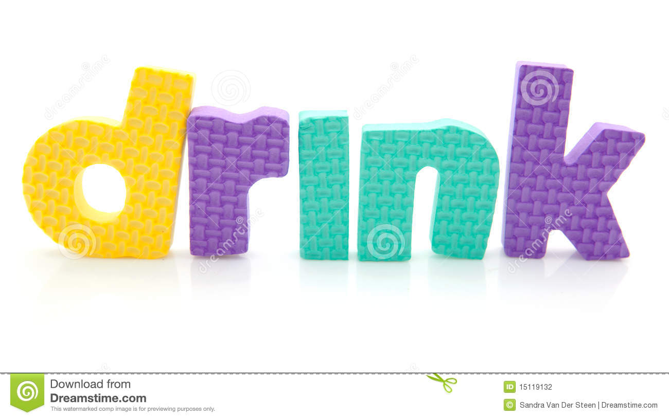 Stock Photography Word Drink Foam Letters Image15119132 on Letter Z Preschool