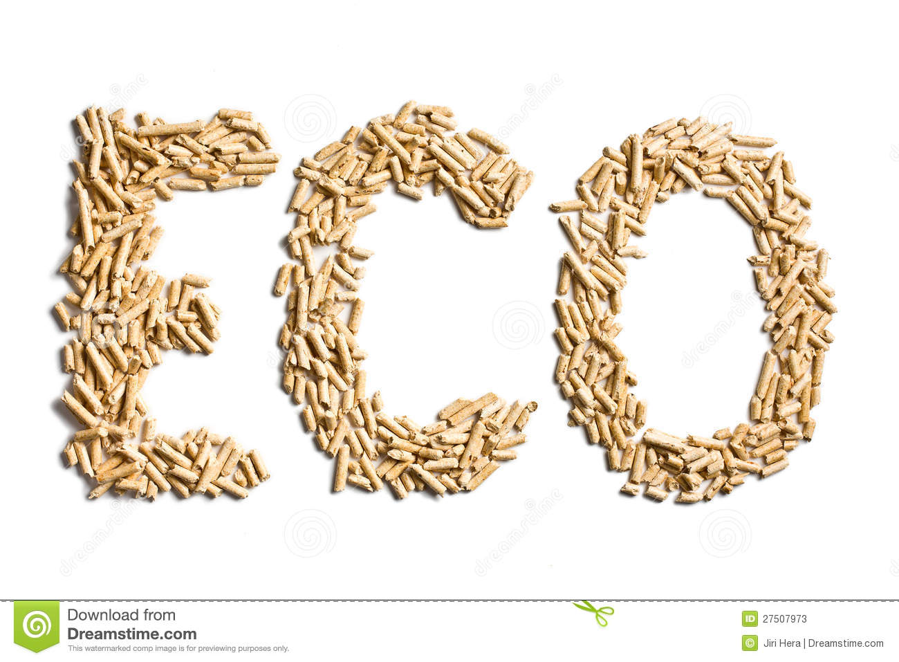 Word Eco Made Of Wood Pellets Stock Photos Image 27507973