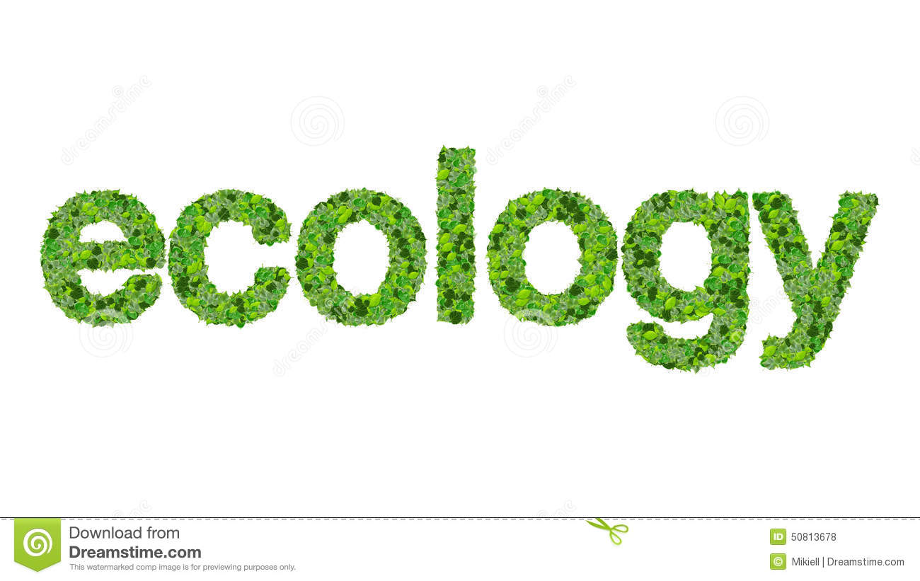 Word Ecology Made From Green Leaves Isolated On White ...