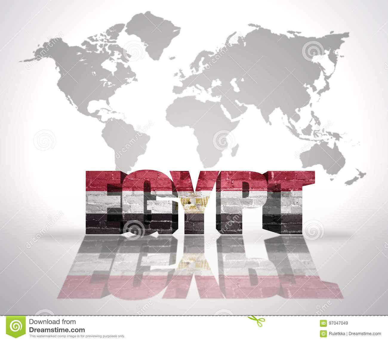 Word Egypt On A World Map Background Stock Illustration ...