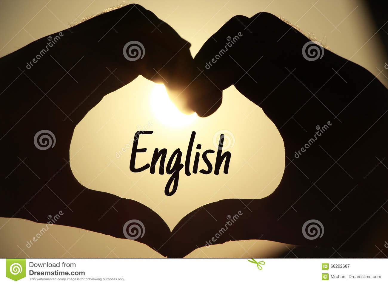 The Word English Stock Photo - Image: 68292687
